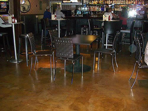 Restaurant, California Commercial Floors California Decorative Concrete El Dorado Hills, CA