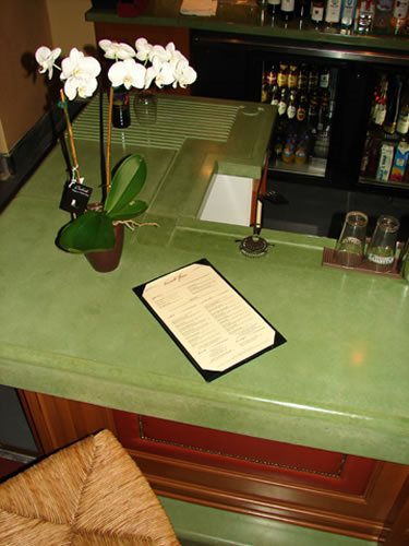 Bar Top Concrete Countertops M Concrete Studios Dayton, OH