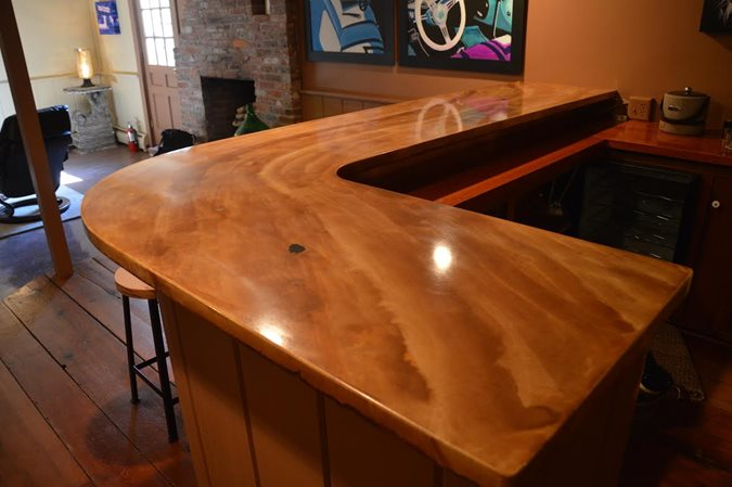 Bar Two Concrete Countertops Liquid Stone Warminster, PA