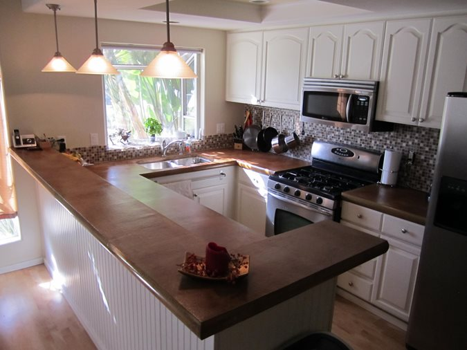 Brown Concrete Countertop Concrete Countertops New Images Concrete Construction Lakeside, CA