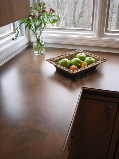 Brown, Matte Concrete Countertops Trueform Concrete Wharton, NJ