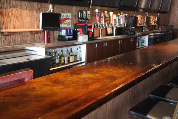 Photo gallery concrete countertops san diego ca the for Basement bar san diego