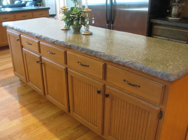 Concrete Island Counter Concrete Countertops Dafforn Concrete, Inc. Fort Wayne, IN