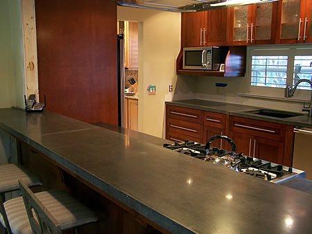 Countertop, Dark Grey Concrete Countertops Coletti Concrete Studio Sebastian, FL