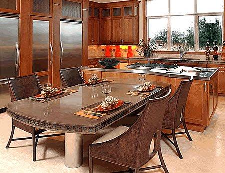Dining Table, Island Concrete Countertops Elemental Surfaces llc Apopka, FL