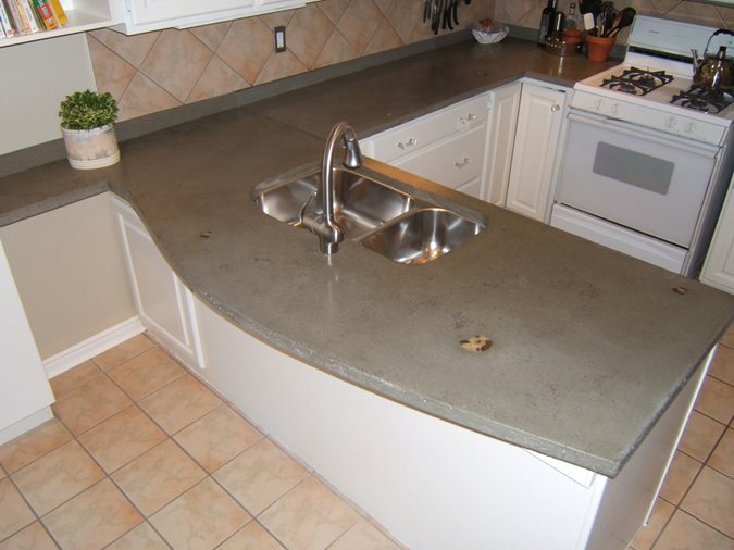 Grey, Inlays Concrete Countertops Concrete Elegance, Inc. Vaughan, ON