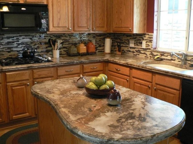 Island, Kitchen, Counter Concrete Countertops The Ashby System Santee, CA