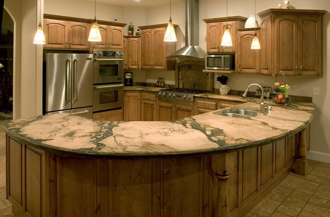 Kitchen, Counter, Peninsula Concrete Countertops The Ashby System Santee, CA