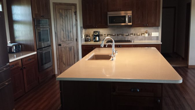 Kitchen Island Concrete Countertops Stoneworth Innovative Concrete Products Lincoln, NE