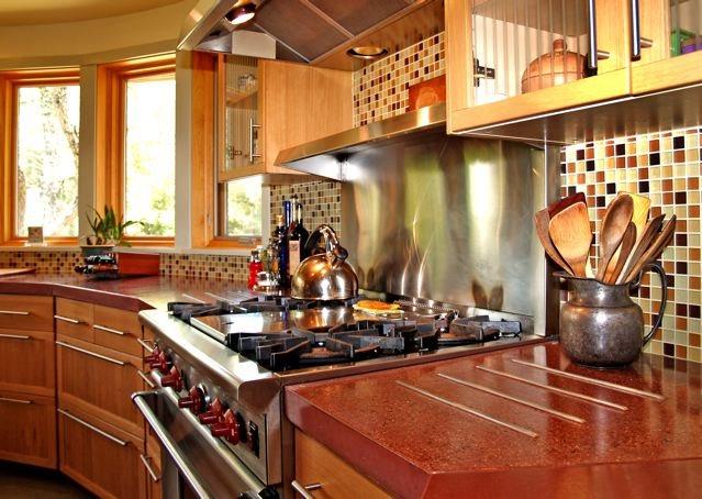 Kitchen Stove Concrete Countertops Flowstone Concrete Studio Sacramento, CA