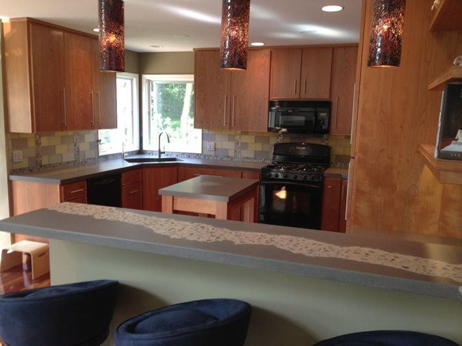 Organic Kitchen Counters Concrete Countertops Hard Topix Jenison, MI