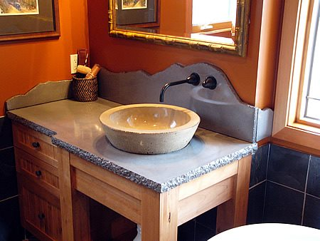 Raised Bowl, Sink Concrete Countertops Sand & Stone Saskatoon, SK