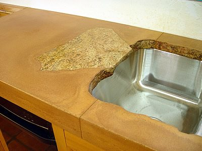 Rock, Tan Concrete Countertops California Concrete Designs Anaheim, CA