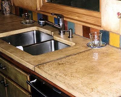 Concrete Countertop Edge Designs : Tan, PolishedConcrete CountertopsA1 Concrete DesignsOviedo, FL