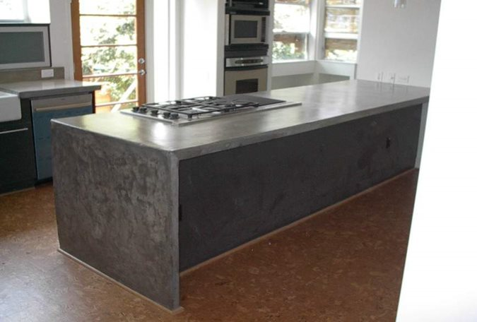 Photo gallery concrete countertops houston tx the for How much does it cost to build a farmhouse