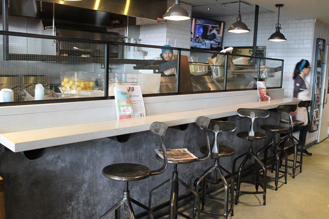 White Restaurant Bar Concrete Countertops Chicago Concrete Studio Inc Blue Island, IL