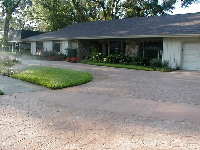 Photo gallery concrete driveways oviedo fl the for Concrete driveway designs