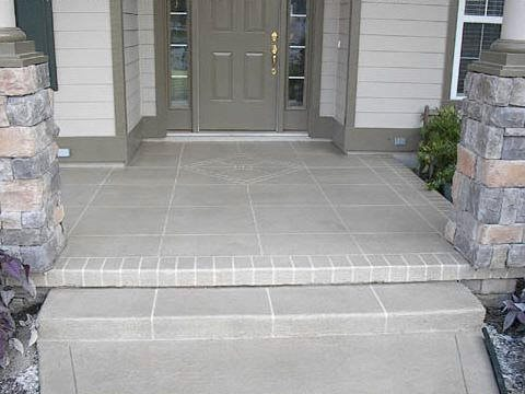 Is It Ok To Have A Small Step To A Front Porch Concrete