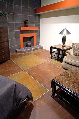 Brown, Tan Concrete Floors Bomanite Corporation Madera, CA