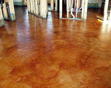 Clay, Molted Concrete Floors Milagro Custom Flooring Solutions, LLC Albuquerque, NM