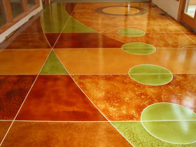Geometric, Bright Concrete Floors Ardex Engineered Cements Aliquippa, PA