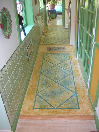 Multi-Colored, Bright Concrete Floors BKN Design & Build Saugerties, NY