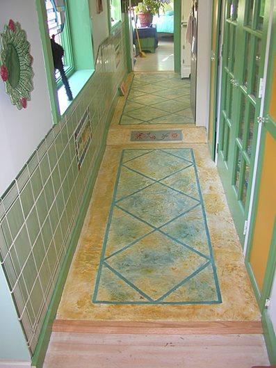 Multi-Colored, Bright Concrete Floors BKN Design & Build Saugerties, NY