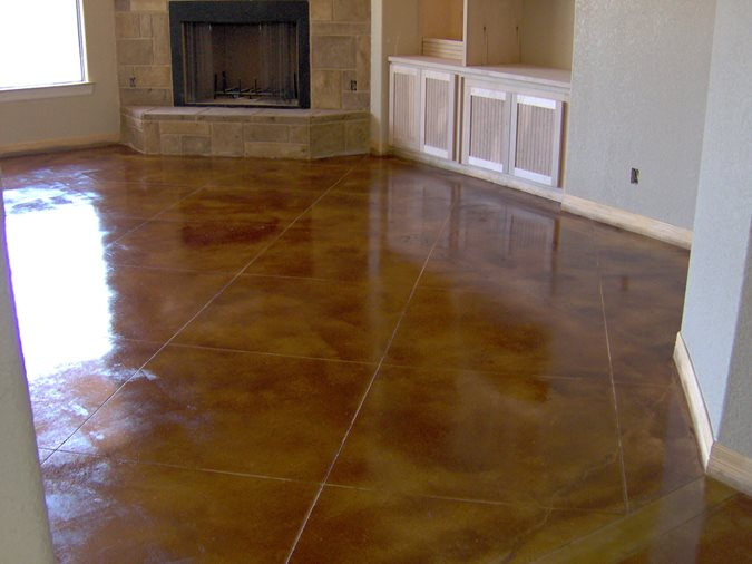 Custom Stained Concrete Floors : Photo gallery concrete floors schertz tx the