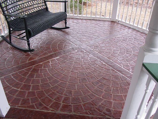Brick, Fan Concrete Patios Specialty Concrete Products, Inc. West Columbia, SC