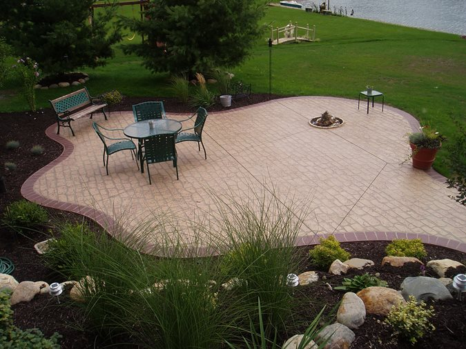 Brick, Free Form Concrete Patios Concreations, LLC Millersburg, IN