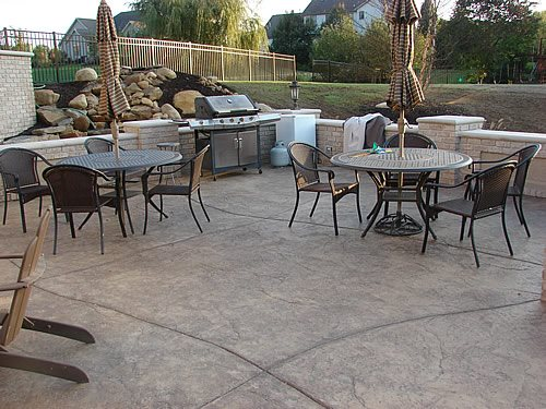 Concrete Patio, Textured Concrete Patio Concrete Patios J&H Decorative Concrete LLC Uniontown, OH