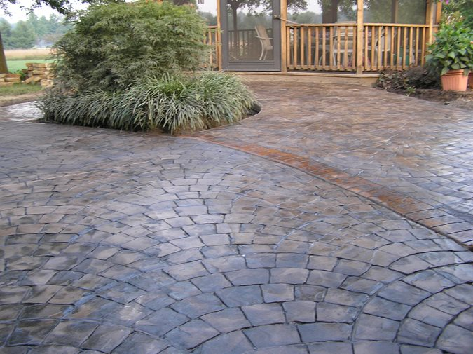 patio brown multi color patio stamped patio ramsey s concrete service