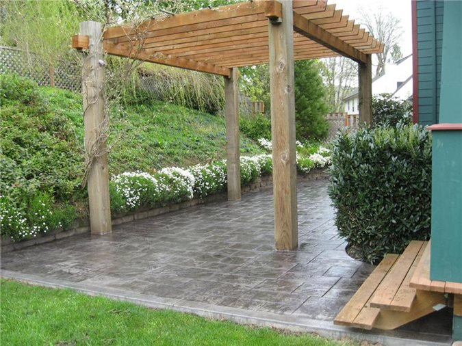 ... Concrete Patio Ideas Backyard Low Cost ...