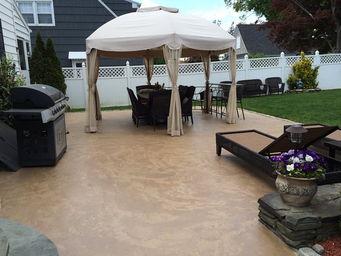 Overlay, Outdoor Concrete Patios Starburst Concrete Design Brewster, NY