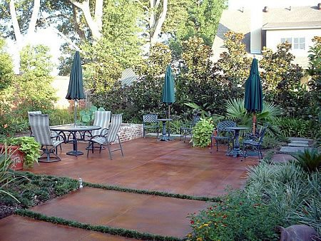 Rust, Smooth Concrete Patios Custom Crete Creations CROWLEY, LA