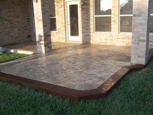 Concrete Patios Supreme Concrete & Tile Houston, TX