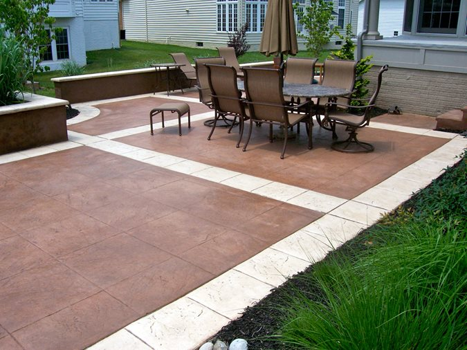 Textured Patio, Seat Walls Concrete Patios AMCON, LLC Gaithersburg, MD