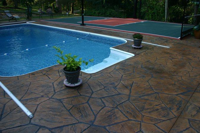 Photo Gallery Concrete Pool Decks Columbus Oh The