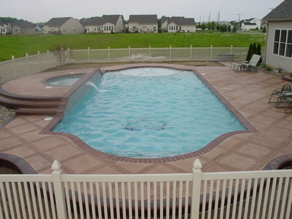 Photo gallery concrete pool decks orrville oh the for Concrete pool designs
