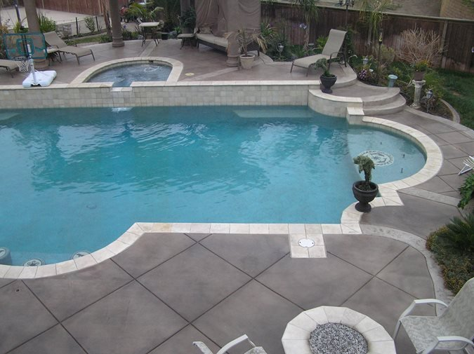Photo gallery concrete pool decks temecula ca the for Pool deck ideas made from concrete