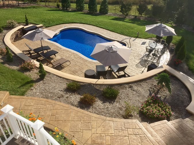 Stamped Stone, Stamped Pool Deck Concrete Pool Decks Greystone Masonry Inc Stafford, VA