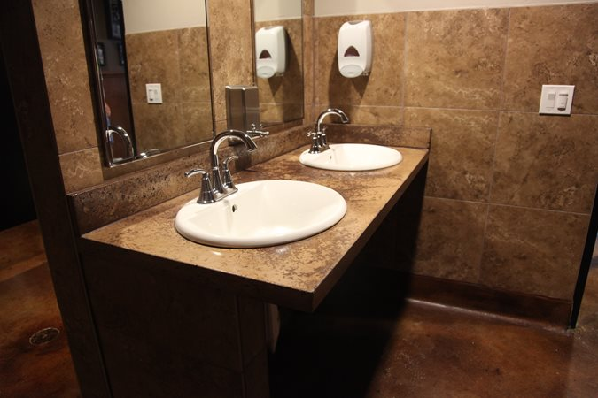 Popular Glass Sink Vs Competition In A Restaurant Bathroom  JSG Oceana