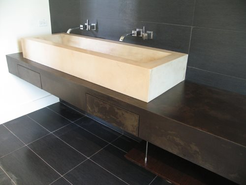 Concrete Trough Sink : Photo Gallery - Concrete Sinks - Randolph, NJ - The Concrete Network
