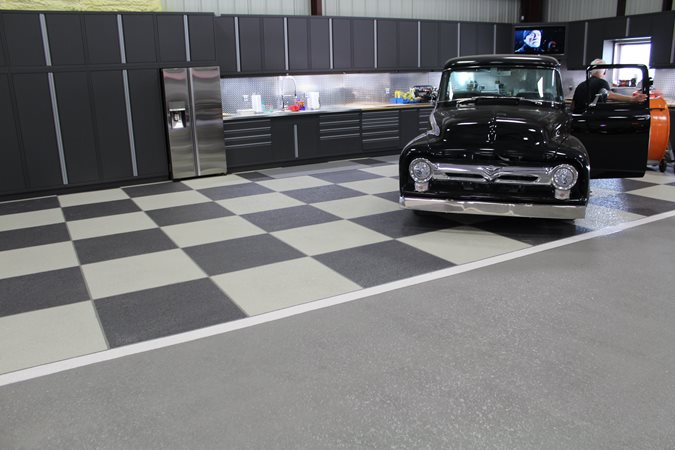 Sundek Of San Antonio, Checkerboard, Garage Floor Concrete Walkways Sundek of San Antonio San Antonio, TX