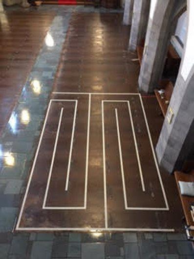 Decorative Concrete Resurfacing, Church Floor, Concrete Pattern Concrete Walkways Decorative Concrete Resurfacing Ballwin, MO