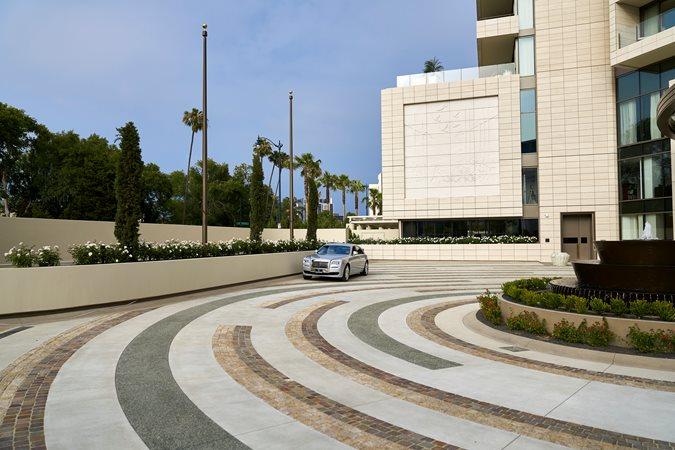Waldorf Astoria, Decorative Concrete Concrete Walkways Trademark Concrete Systems, Inc. Anaheim, CA