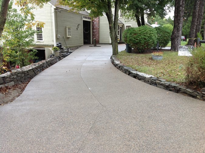 Brown Driveway, Exposed Aggregate, Concrete Exposed Aggregate CDS New England, Inc Wrentham, MA