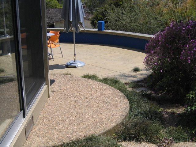 Exposed Concrete, Round Landing Exposed Aggregate Burch Concrete Solutions Los Osos, CA