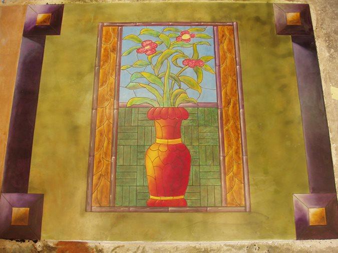 Decorative Concrete Painting : Photo gallery floor logos temple ga the