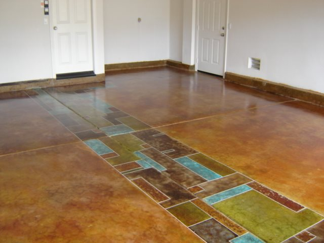 Photo gallery garage floors las vegas nv the for Colored concrete floors